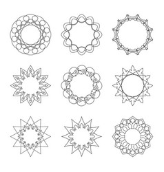 set circular banners vector image