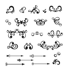 Set of vintage decorative elements for your design vector