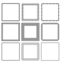 set square frames from braided lines vector image
