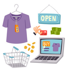 Shopping supermarket store shop grocery vector