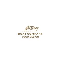 simple and modern line art boat logo design vector image