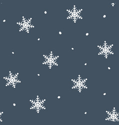 Simple blue festive seamless pattern with hand vector