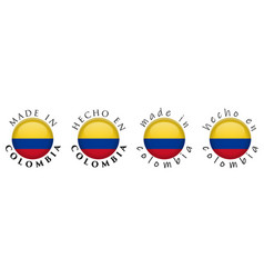 simple made in colombia spanish translation 3d vector image