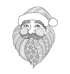 Smile santa vector