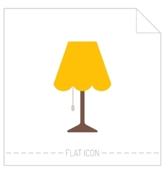 Table lamp Flat color icon Object of interior vector image