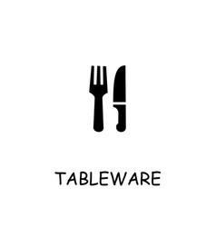 Tableware flat icon vector