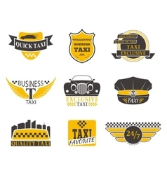 Taxi badge vector