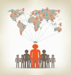 Team man global communication concept stock vector