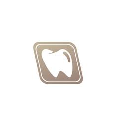 teeth care symbol in parallelogram shape vector image