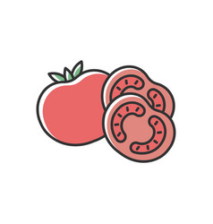 Tomato red rgb color icon vector