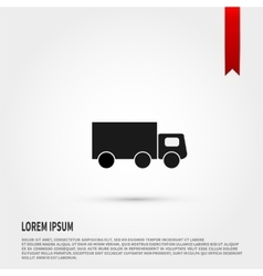 Truck icon Flat design style Template for desig vector