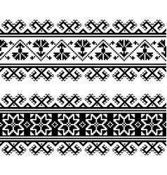 ukrainian belarusian seamless folk pattern vector image
