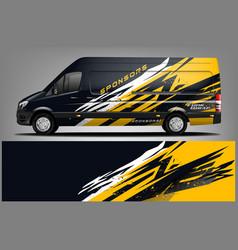 Van car wrap design for company vector