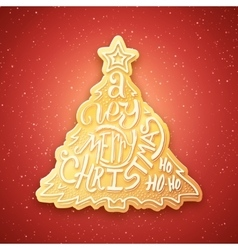 Very Merry Christmas lettering isolated on white vector image