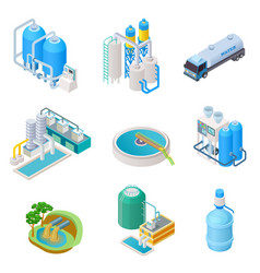 water purification technology isometric treatment vector image