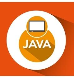 web development java technology vector image