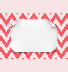 White paper sheet with curved corners and vector