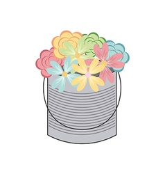 Bottle and flower vector