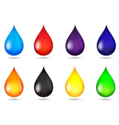 Drop of liquid collection set vector image
