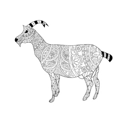 Goat Coloring for adults vector image vector image