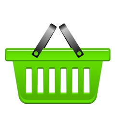 green Basket vector image vector image