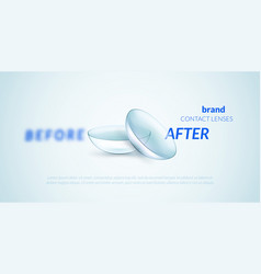 contact lenses advertising template vector image