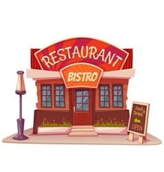 restaurant and bistro vector image vector image