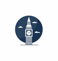 big ben tower icon english school logo concept vector image vector image