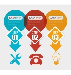 Infographic layout graphic design vector image