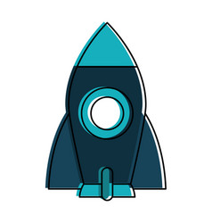 rocket space icon image vector image vector image