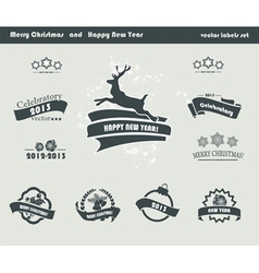 Set of Retro Christmas Labels vector image vector image