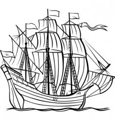 vector ship vector image vector image