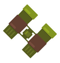 binocular icon flat style vector image vector image
