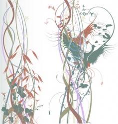 birds in love pastel background vector image vector image