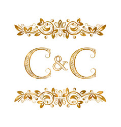 C and c vintage initials logo symbol two letters vector