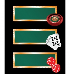 casino banners set vector image vector image