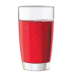 Glass of red juice vector image vector image
