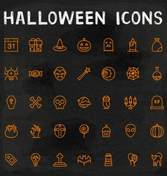 Halloween Outline Icons vector image