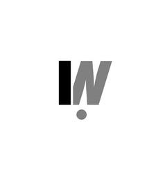 in i n black white grey alphabet letter logo icon vector image vector image