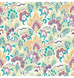 Moroccan floral monochrome seamless ornament vector image