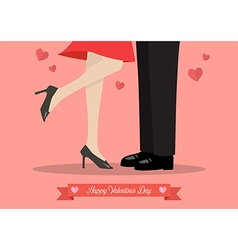 Young couple kissing on valentines day vector image vector image