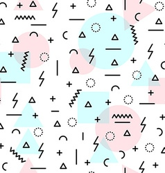 80s retro shapes seamless pattern in soft colors vector image
