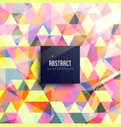 Abstract background of colorful triangles vector