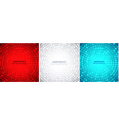 abstract colorful circular frame set vector image