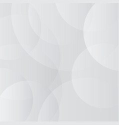 Abstract white grey color circle overlap modern vector