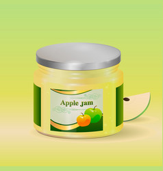 apple jam realistic vector image