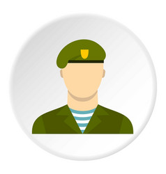 Army soldier icon circle vector
