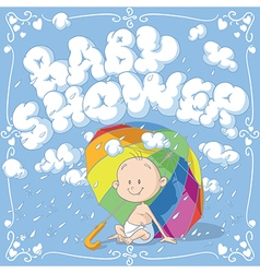 Baby Shower Cartoon Invitation vector