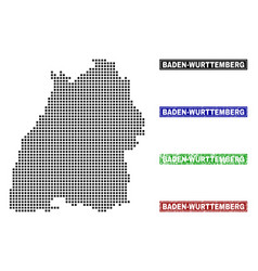 Baden-wurttemberg land map in dot style with vector