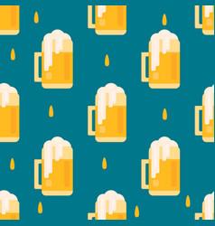 Beer mug pattern in flat style vector